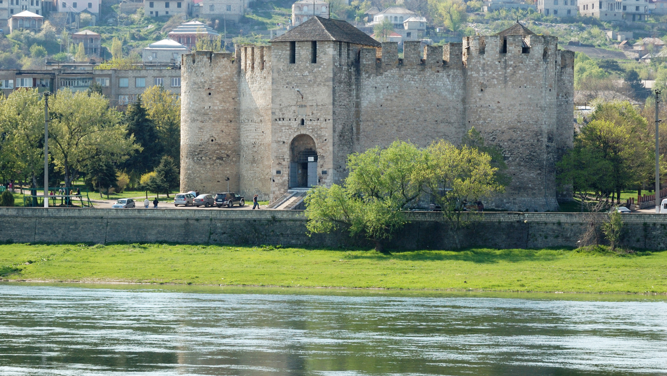 Old fortress in Soroca,situated on Nistru river,Moldova
