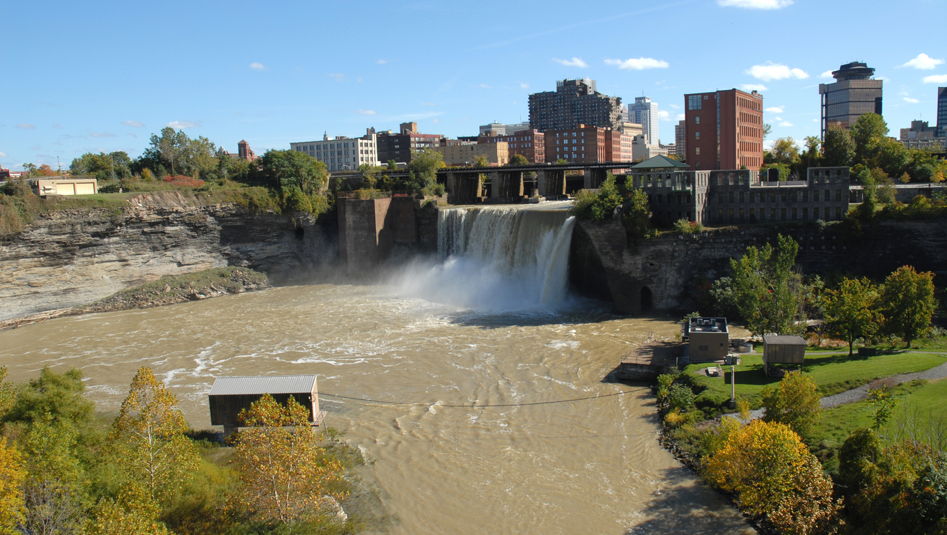 High Falls on the Genesee River, Rochester, New York.