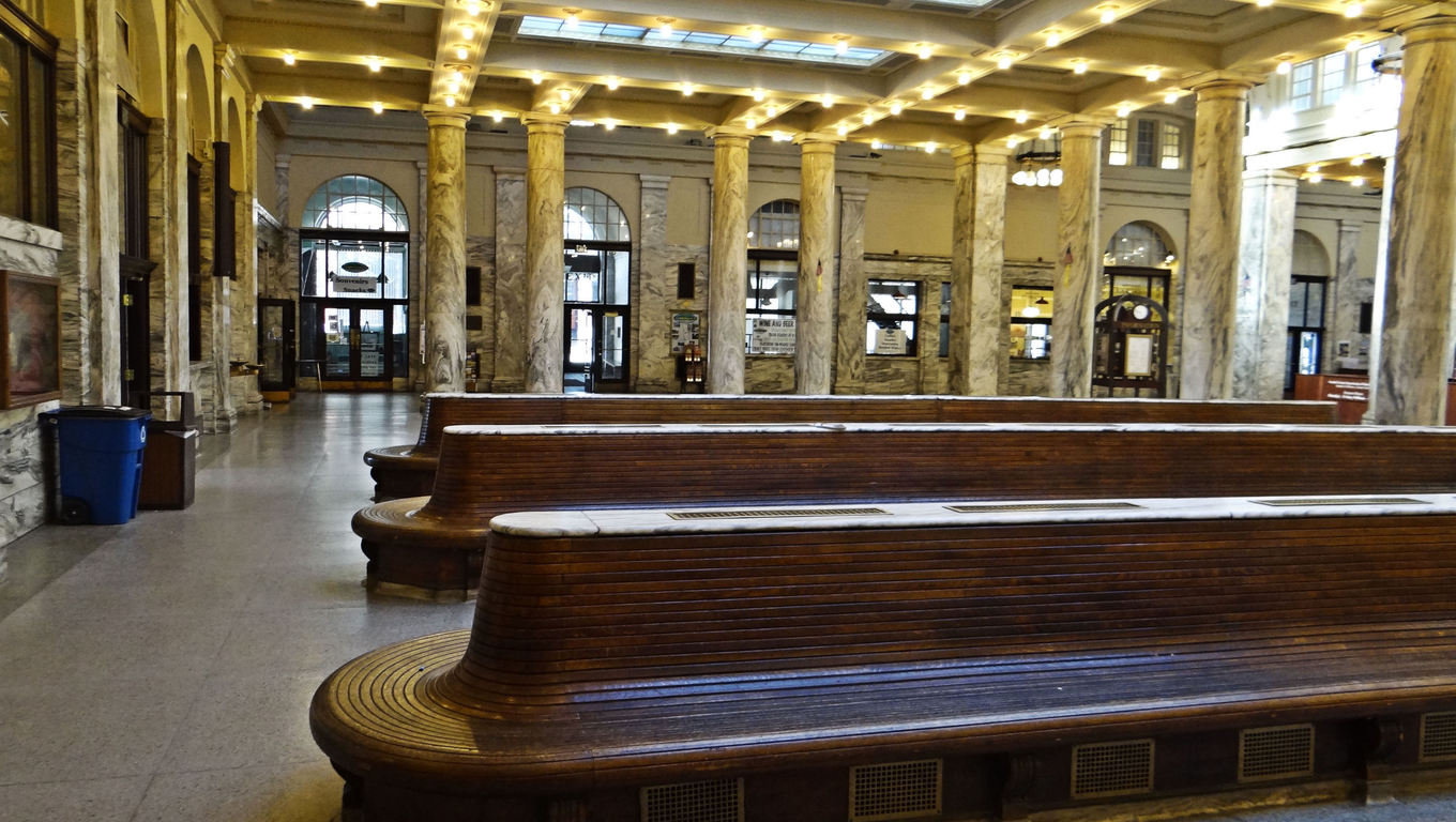Inside the classic Union Station of Utica.