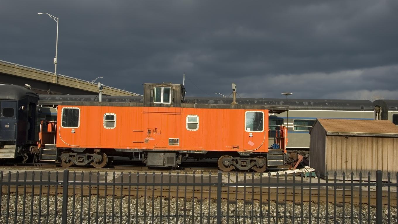 A Union Railroad Station rail car.
