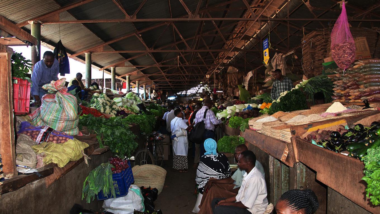 Local market in Arusha city, Tanzania