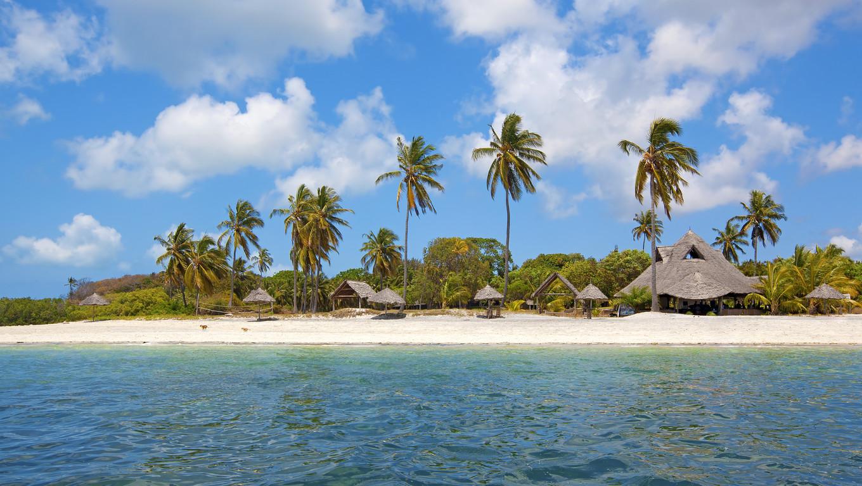 Untouched nature at Mafia Island in Tanzania
